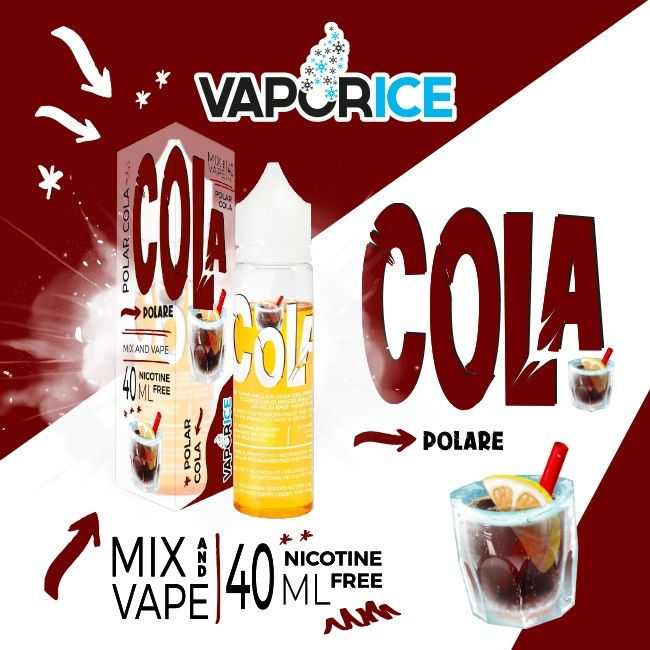 ColaVaporice e' il nuovo liquido per sigarette elettroniche in formato scomposto alla rinfrescantecola e limone! il liquido svapo ideale per la tua calda estate