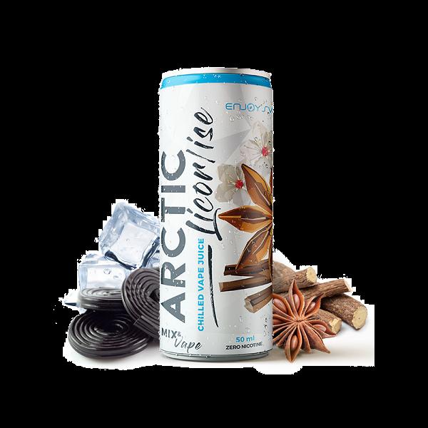 Enjoy Svapo Arctic Licorise 50 ml Mix series , un mix di ghiaccio che avvolge note di liquirizia ed anice.