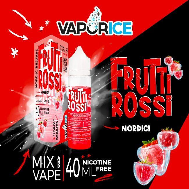 Frutti rossi Vaporice liquido per sigarette elettroniche mentolatoin formato scomposto ai frutti rossi serviti a bassa temperatura !liquido da svapo ideale per la tua estate!