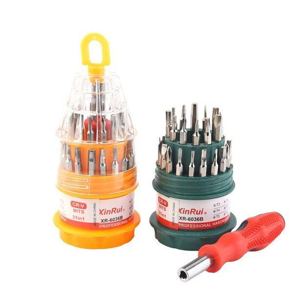 Kit professional tools Xin Rui - Punte , cacciaviti , punte a croce utili per la rigenerazione degli atomizzatori.