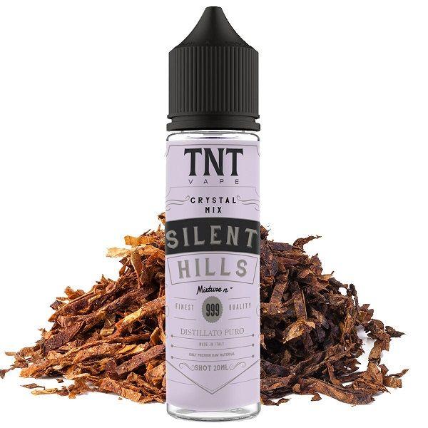 Silent Hills TNT aroma scomposto 20 ml miscela di tabacco Perique e Burley per un aroma deciso e non stucchevole. Adatto all'utilizzo su qualsiasi sigaretta elettronica.
