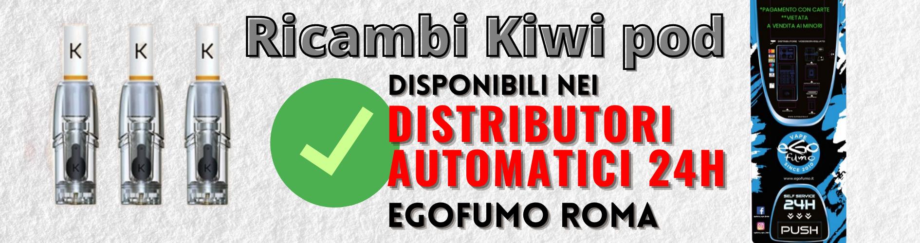Ricambi Kiwi Roma disponibili nei distributori automatici 24h eGofumo