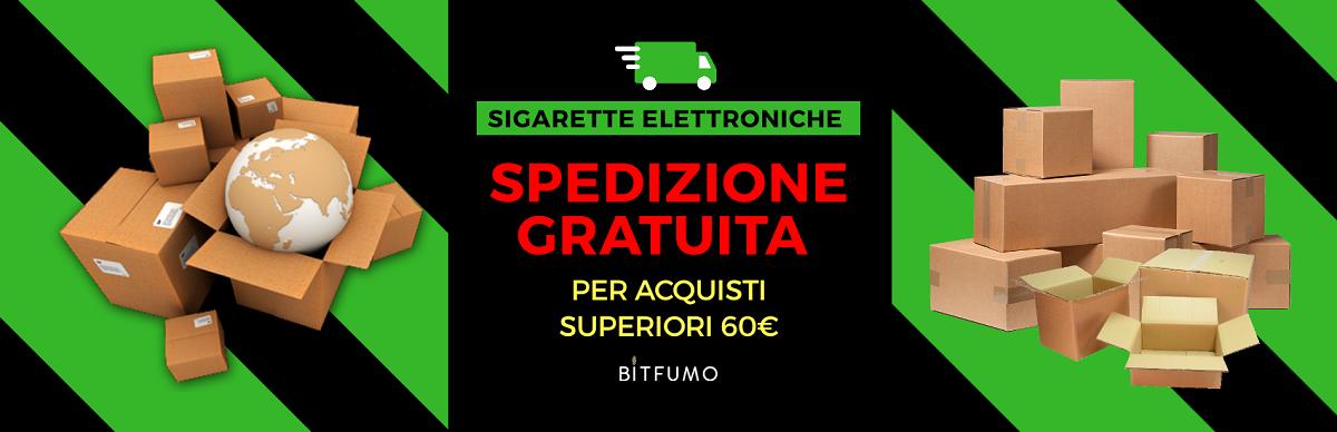 SITO ON LINE SVAPO SPEDIZIONE GRATUITA PER ORDINI SOPRA I 60€
